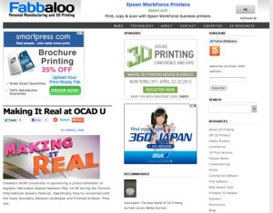 "Fabbaloo's Home Page: Location of General Fabb's Blog & The Unbeatable ""Resources"" Portal Cataloging 3DP Everything"