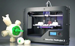 "MakerBot's ""Replicator 2"" Desktop 3D Printer, with sample output"