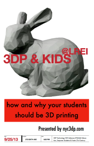 3DP & EDU & KIDS: Our Posterized Invitation...