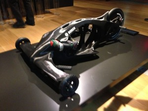 "3DP'd ABS Tricycle at ""Out of Hand"" Exhibition at Museum of Art & Design, NYC, 8 Nov 13, by Grey"