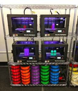 "One Rack of MakerBot Equipment & Printing Filament at the World's First ""MakerBot Innovation Center"" Debut Ceremony at SUNY New Paltz, 11 Feb 2014"