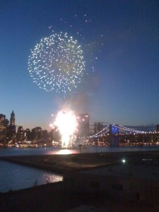 Fireworks & Bombards at the Brooklyn Bridge