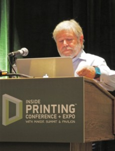 "Avi Reichental, President & CEO of 3D Systems Corp., presenting the first Keynote at ""Inside 3D Printing"" at the Javits Center, NYC, on 3 April 2014."