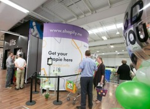 "Lining up outside the Artec Shapify.Me 3DP-Scanning Booth at Asda's first ""Personal Figurine"" creation system near Manchester, U.K."