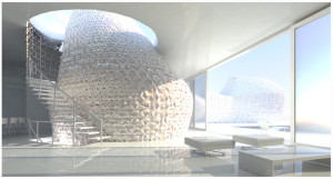 """3D Printed House 1.0""-Rooms: learning to live on the ""curve."""