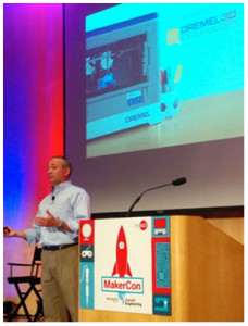 John Kavanagh, President of Dremel, rolled out the company's first foray into 3DP with its innovative Idea Builder desktop 3D Printer.