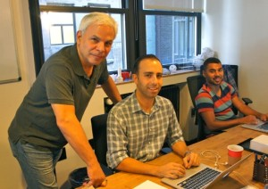 Some of the 3DP4E Team in action at their Manhattan offices: (from left) Ron Rose, Larry Adames & Matt Manuele.