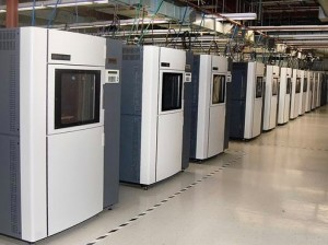 "Stratasys ""Fortus 400mc"" 3DP Production Systems: employes FDM (Fused Deposition Modeling) 3D Printing technology; capable of handling 9 different production-grade engineering thermoplastics, including those with biocompatibility."